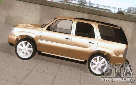 Cadillac Escalade 2004 para GTA San Andreas left