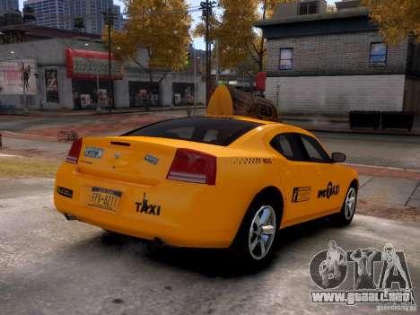 Dodge Charger NYC Taxi V.1.8 para GTA 4 vista hacia atrás