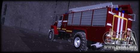 Ural 43206 AC 3.0-40 para GTA San Andreas vista posterior izquierda