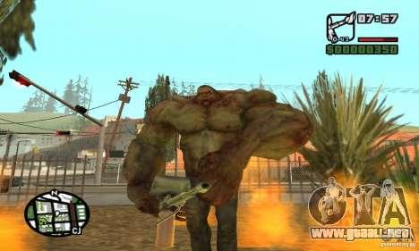 Tanque del Left 4 Dead para GTA San Andreas quinta pantalla