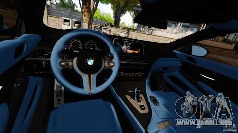 BMW M6 para GTA 4 vista hacia atrás