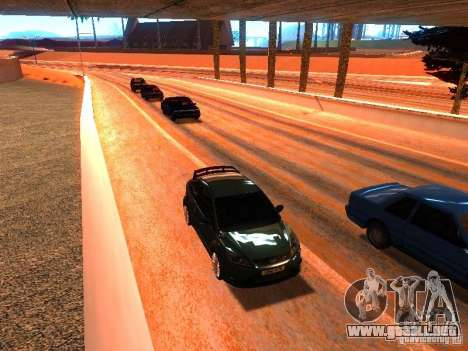 Controladores normales en la pista para GTA San Andreas sucesivamente de pantalla