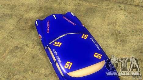 Hornet 51 para GTA San Andreas vista hacia atrás