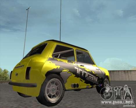 Mini Cooper S Titan Motorsports para la visión correcta GTA San Andreas