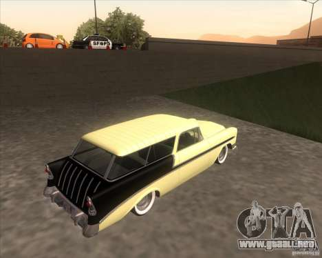 Chevrolet Bel Air Nomad 1956 custom para GTA San Andreas left