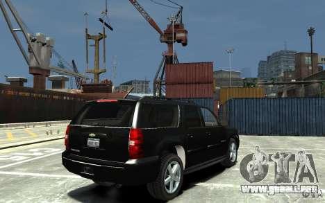Chevrolet Suburban 2008 (beta) para GTA 4 visión correcta