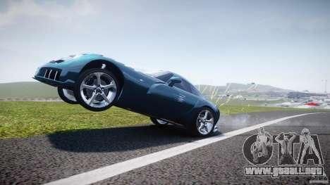 TVR Sagaris para GTA 4 vista desde abajo