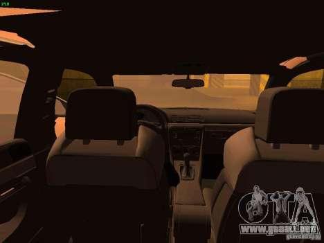 Audi S4 OEM para visión interna GTA San Andreas