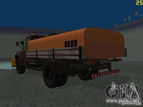 Ko-829 en beta chasis de camión ZIL-130 para GTA San Andreas vista posterior izquierda