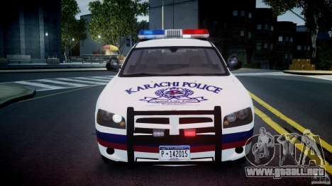 Dodge Charger Karachi City Police Dept Car [ELS] para GTA 4 vista lateral