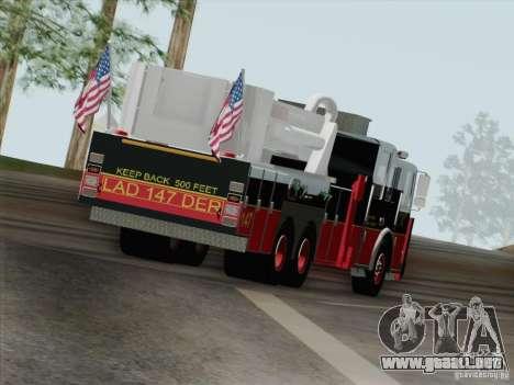 Seagrave Marauder II. SFFD Ladder 147 para vista inferior GTA San Andreas
