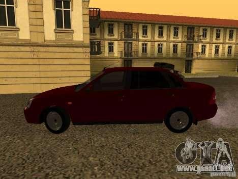 LADA 2170 Premier para GTA San Andreas vista posterior izquierda