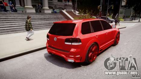 Volkswagen Touareg R50 2008 Tune (Beta) para GTA 4 Vista posterior izquierda