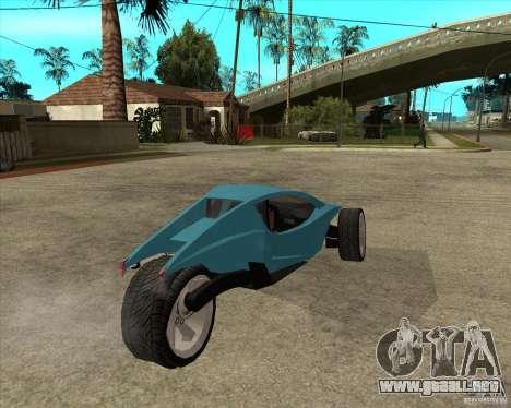 AP3 cobra para GTA San Andreas vista posterior izquierda