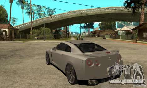 Nissan GT-R R35 2008 para GTA San Andreas vista posterior izquierda