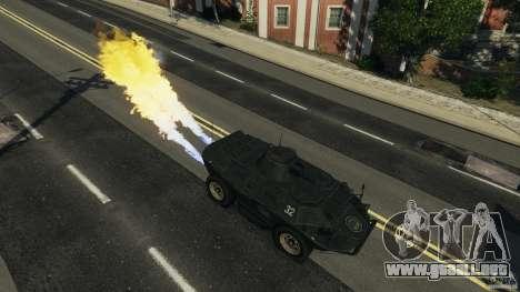Tank Mod para GTA 4 adelante de pantalla