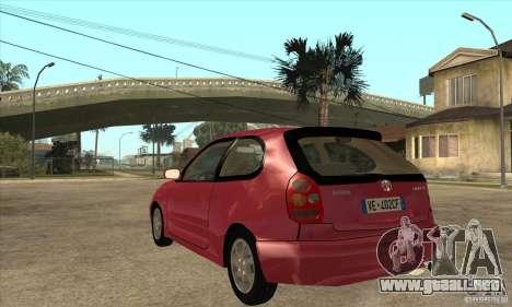 Toyota Corolla G6 Compact E110 EU para GTA San Andreas vista posterior izquierda