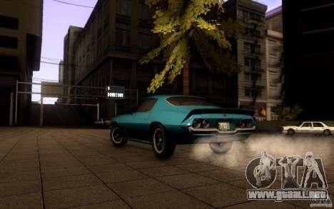 Chevrolet Camaro Z28 para GTA San Andreas vista posterior izquierda