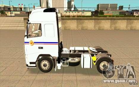 Volvo FH16 Globetrotter TRANSALLIANCE para GTA San Andreas left