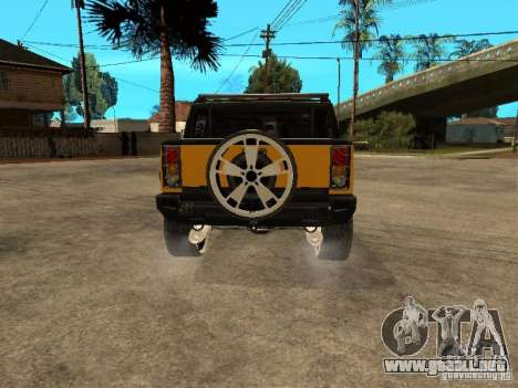 Hummer H2 4x4 diesel para la visión correcta GTA San Andreas