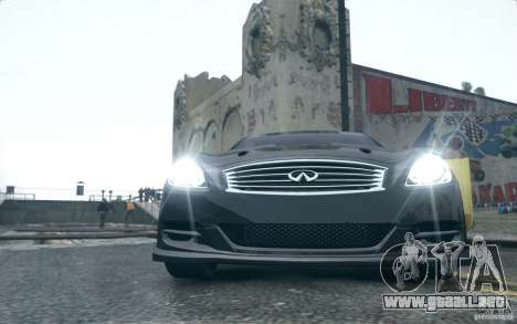 Infiniti G37 Coupe Carbon Edition v1.0 para GTA 4 left