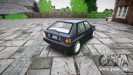 Lancia Delta HF 4WD para GTA 4 Vista posterior izquierda