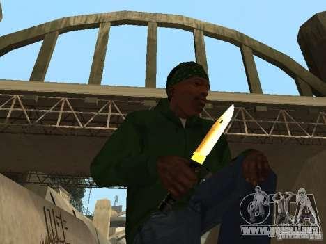 Armas de Pak de oro para GTA San Andreas tercera pantalla
