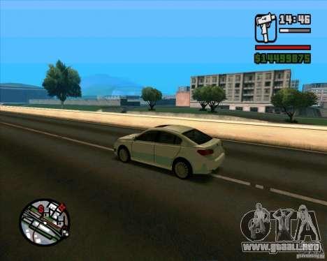 Subaru Legacy 2010 v.2 para GTA San Andreas vista posterior izquierda