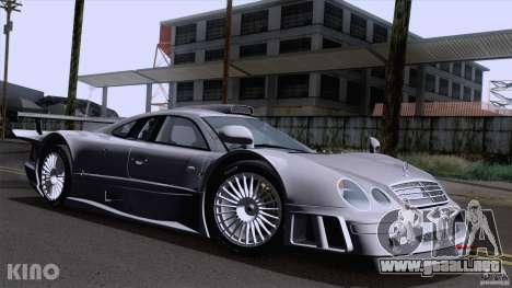 Mercedes-Benz CLK GTR Road Carbon Spoiler para visión interna GTA San Andreas