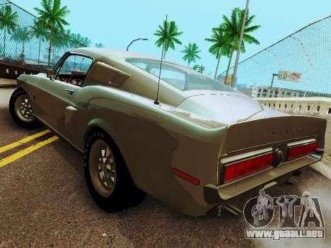Shelby GT 500 KR para GTA San Andreas vista posterior izquierda