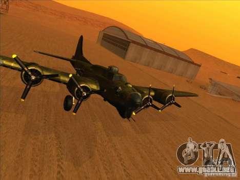 G B-17 Flying Fortress (Nightfighter versión) para GTA San Andreas