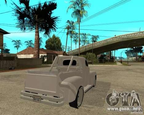 Ford F1 Pickup Hotrod 49 para GTA San Andreas vista posterior izquierda