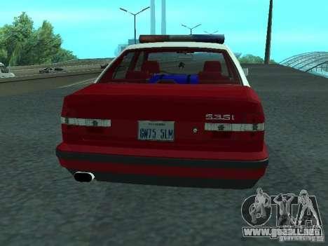 BMW 535i E34 Police para la visión correcta GTA San Andreas