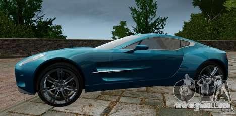 Aston Martin One-77 2012 para GTA 4 left