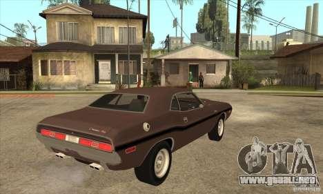 Dodge Challenger R/T Hemi 426 para la visión correcta GTA San Andreas