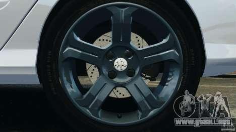 Peugeot 308 GTi 2011 Taxi v1.1 para GTA 4 vista desde abajo