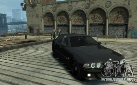 BMW M5 E39 para GTA 4 vista hacia atrás