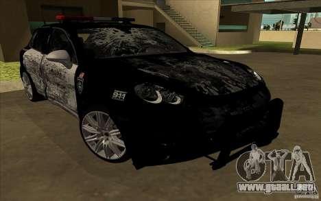Porsche Cayenne Turbo 958 Seacrest Police para vista lateral GTA San Andreas