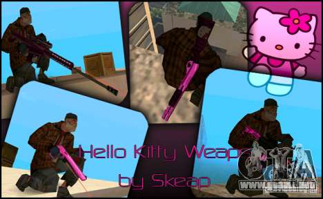 Hello Kitty weapon para GTA San Andreas