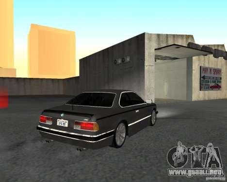 BMW M6 E24 para GTA San Andreas left