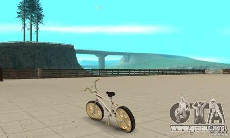 Spin Wheel BMX v2 para GTA San Andreas vista posterior izquierda