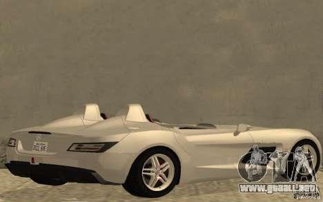 Mercedes-Benz SLR McLaren Stirling Moss para GTA San Andreas vista posterior izquierda
