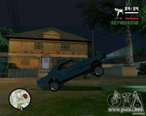 Capacidad para levantar el coche para el dólar para GTA San Andreas tercera pantalla