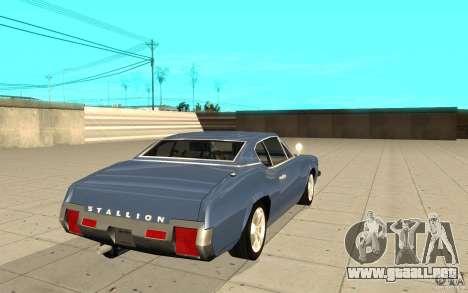Semental de GTA 4 para GTA San Andreas vista posterior izquierda