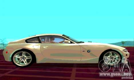 BMW Z4 E85 M para GTA San Andreas vista hacia atrás