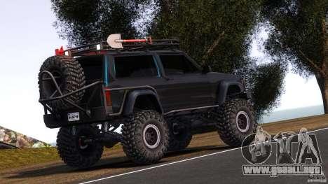 Jeep Cheeroke SE v1.1 para GTA 4 Vista posterior izquierda