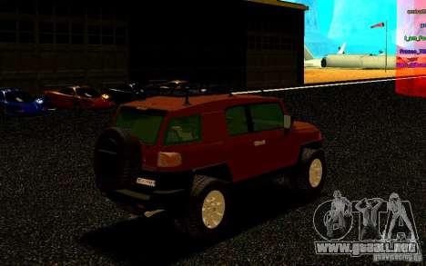 Toyota FJ Cruiser para la visión correcta GTA San Andreas