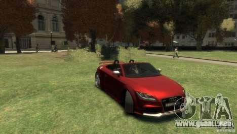 Audi TT RS Roadster para GTA 4 visión correcta