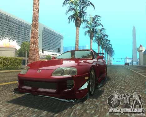 Toyota Supra Light Tuned para GTA San Andreas left