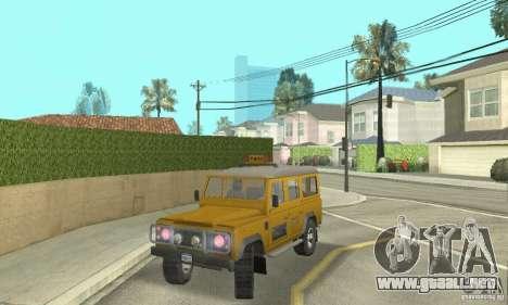 Land Rover Defender 110SW Taxi para GTA San Andreas